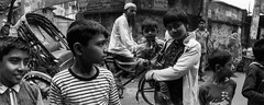 Streets of Dhaka (Max Sturgeon) Tags: horizonperfekt panoramic film hp5 blackandwhite bw monochrome street streetphotography travel travelphotography dhaka bangladesh