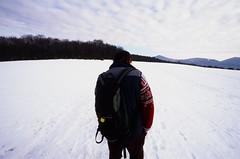 A Tourist (michal_zilinsky) Tags: winter zima soblahov backpack snow sneh slovensko slovakia trenčín analog 35mm film slide diafilm dia fujichrome