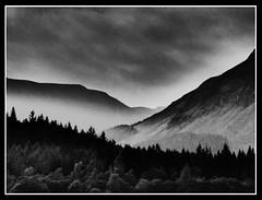 Homeland (ronramstew) Tags: scotland bw blackandwhite mountains valley