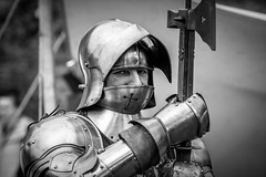 Poleaxe (Andy..D) Tags: commandery d500 worcester worcestercommandery armour sword menatarms manatarms knight poleaxe battle axe portrait medieval chainmail reenactment helmet helm shield