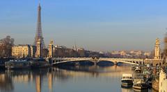 Paris (FRANCOIS VEQUAUD) Tags: paris capitale cityscape laseine hiver pontalexandreiii toureiffel