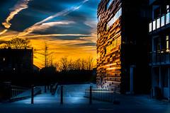 Sun reflection (Maria Eklind) Tags: solnedgång hovrätten reflection skåne sky hovrättenöverskåneochblekinge sunset himmel solljus spegling sweden outdoor cityscape highcourt city malmö skånelän sverige se