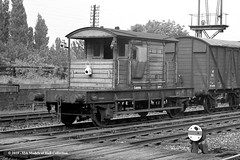 c.1963 - Hessle, East Riding of Yorkshire. (53A Models) Tags: britishrailways southernrailway 25t goodsbrakevan s55976 goodswagon freightcar northferriby eastyorkshire train railway locomotive railroad