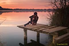 De vegades veig fades... (Ernest Bech) Tags: catalunya girona pladelestany estany lake lago model albada sortidadesol amanecer sunrise landscape llums lights