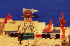 New Zealander, Long Range Desert Group (brickhistorian) Tags: war world wars ww2 wwii two newzealand kiwi special specop specops desert lego legos minifig minifigure military italy allies operations patrol intel recon
