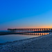 Walnut Beach pier at Low tide and sunrise