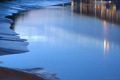 Resurgence (HiJinKs Media...) Tags: bristol water reflections light riveravon river riverbank flow tide tidal tides blue bluehour nightphotography nightlights citylights sand mud silt abstract fastflow current