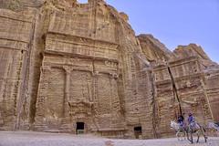Which is lined with tall, impressive tombs (T Ξ Ξ J Ξ) Tags: jordan petra fujifilm xt2 teeje fujinon1655mmf28 siq canyon unique facades tomb sandstone tsamud