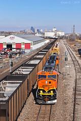 Southbound Local in Kansas City, KS (Grant G.) Tags: bnsf railway railroad locomotive train trains south southbound local freight kansas city emd power