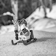 Sensei Wu is going sledging (genelabo) Tags: sledging sled toboggan partnachklamm garmisch partenkirchen partnach klamm bayern winter bavaria black white schwarz weiss sony 6300 ice eis snow gorge flume waterfall rock fels stein mountain berg berge lego minifig minifigure toy fun figure square quadratisch meister master sensei wu