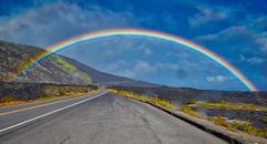 Hawaii Rainbow (Joe Marcone (3.2 Million+ Views)) Tags: hawaii hawaiivolcanosnationalpark rainbow road nikon nikond3200 bigisland