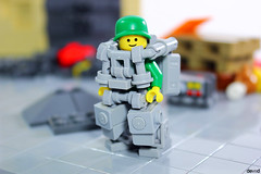 Military Trooper - Hunter the Minesweeper (Devid VII) Tags: devid vii lego moc mecha mech minifigs minifig minifigures suit trooper diorama scene operators mine military hunter minesweeper
