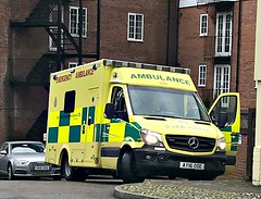 East of England Ambulance Service NHS Trust . 220 AY16OOE . Bishop's Stortford , Hertfordshire . Wednesday 06th-March-2019 . (AndrewHA's) Tags: hertfordshire bishopsstortford east england ambulance service nhs trust 220 ay16ooe mercedes benz sprinter 519 cdi emergency 999
