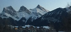Art2019  Blue Hour Three Sisters (Mr. Happy Face - Peace :)) Tags: canmore lakelouise mountains outdoors activity skiing banff winter