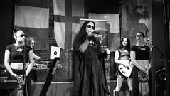 Event Horizon March 2019 038 (byronv2) Tags: music musician woman women makeup stage band krow krowandtheelectrictemple goth gothic punk electro blackandwhite blackwhite bw monochrome dance shorelineofinfinity eventhorizon edinburgh edimbourg scotland frankensteins georgeivbridge