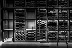 Gran-Reserva (monsugar) Tags: light wine bodega vino luces sombras blancoynegro art photo drink botella