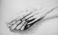 CAN WE HOLD HANDS? (Sketchbook0918) Tags: pencil friendship love affection chemistry holding hands drawing fingers graphite expressionsim art fineart