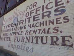 Zanesville, OH painted wall sign (army.arch) Tags: zanesville ohio oh sign painted wall officesupplies typewriters