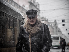 Everlasting winter (rsvatox) Tags: saintpetersburg snowfall blizzard winter street streetportrait city strangers candid snow