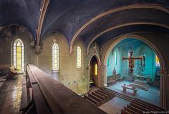 La Chiesa Blue (trip_mode) Tags: abandoned decay urbex urban exploration exploring trip derelict trespassing church sacral architecture window chapel
