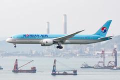 KOREAN AIR B787-9 DREAMLINER HL7206 003 (A.S. Kevin N.V.M.M. Chung) Tags: aviation aircraft aeroplane airport airlines plane spotting hkg landing approach boeing b787 dreamliner b7879 beacon