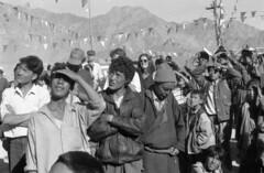 Festive day in Leh (Paolo Levi) Tags: shantistupa leh ladakh india canon ftb fd 50mm tmax ladakhian buddhist buddhism tibetan