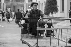 Market Porter (solas53) Tags: market street candid bw blackandwhite people uzbekistan uzbek bukhara monochrome worker porter work man