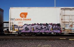 Steel (quiet-silence) Tags: graffiti graff freight fr8 train railroad railcar art steel msk cryx cryo cryotrans insulated boxcar lambweston cryx3455