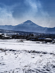 Far away, Mt. Fuji (buntaro.tanaka) Tags: mountain fuji mtfuji japan winter snow