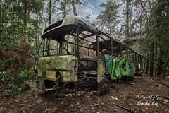 Jungle Bus (Photography by Linda Lu) Tags: bus abandonedcar abandonedtransport vehicle lostplace lostplacesnetherland urbex urban urbexnetherland decay discarded rusty crusty rost
