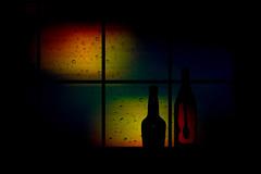 The window and rain ... (Julie Greg) Tags: window colours canon art drops rain glass