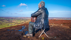 The sitting man... (Lee Harris Photography) Tags: landscape sculpture art yorkshire moors moorland sky cloud lumixg9 colourful outdoor contrast uk statue