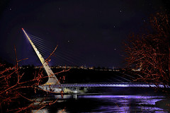 Sundial_Bridge_03 (DonBantumPhotography.com) Tags: landscapes night timelapse bridge lights sundialbridge reddingcalifornia sacramentoriver northstate shastacounty donbantumcom donbantumphotographycom
