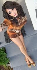 Rusty Leopard (therealdavinawayne74) Tags: animalprint boi boytogirl crossdresser crossdressing crossdressed crossdress capeziotights capeziopantyhose dragmakeup dragqueen drag femme feminized highheels hosiery heels maletofemale m2f minidress makeup nylon nylons pumps pantyhose stilettoheels stockings tranny tights trans transvestite tgirl