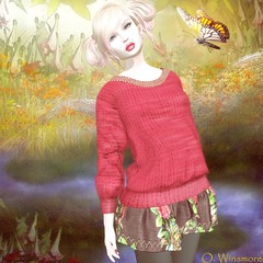 Siss Boom - College Rose for Secret 60 Weekend (Ombrebleue Winsmore) Tags: sissboom top skirt wool fashion couture
