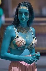 Blue Blue Love Is Blue (Scott 97006) Tags: woman costume color blue pretty mermaid shells cute skirt