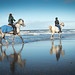 Riding op the beach. (Hoek van Holland)