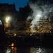 Nighttime Funeral Pyres, Varanasi India