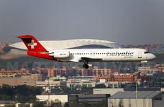 HB-JVC (Mariano Alvaro) Tags: avion spotter spotting fokker 100 helvetic airways madrid barajas wanda metropolitano
