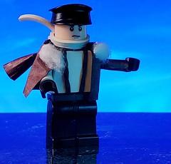 A Free French pilot prepares for a mission (brickhistorian) Tags: ww2 war world wars wii two lego legos pilot france french free plane airplane minifig minifigure moc custom customs craft afol raf
