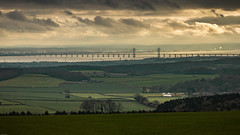 Second Severn Crossing from Chepstow Park Wood (chrisgj6) Tags: devauden monmouthshire wales gb