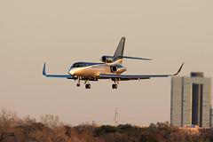 Dassault Falcon 50EX (zfwaviation) Tags: kdal dal dallaslovefield dallas texas airport airplane plane aircraft jet business private airliner aviation runway parking garage c spotting dassault falcon 50ex fa50 n205ja