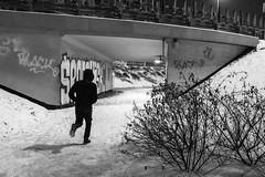 environment (gregor.zukowski) Tags: warsaw warszawa street streetphoto streetphotography peopleinthecity candid urban urbanlandscape blackandwhite blackandwhitestreetphotography bw monochrome running fujifilm