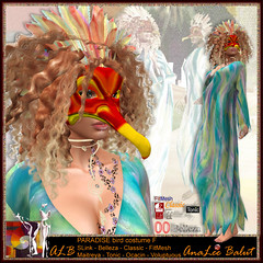 ALB PARADISE bird costume F by AnaLee & Manheim children - Lamu Group (ALB) gift - FREEBIE (AnaLee Balut) Tags: analeebalut alb albdreamfashion costume carnival mardigras karneval venecia paradise bird fantasy sl secondlife secondllife gift free freebie mesh maitreya slink belleza tonic fitmesh mask wings party celebrations kostüm köln rio venedig