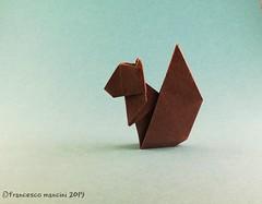Squirrel (mancinerie) Tags: origami papiroflexia paperfolding papierfalten francescomancini mancinerie squirrel origamisquirrel