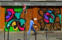 Un homme bleu (Edgard.V) Tags: paris parigi streetart arte urbano urban art callejero