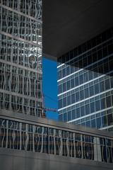 light and shadow (Robert Borden) Tags: architecture building sky crane blue reflections windows la losangeles urban street city socal california us usa northamerica 50mm 50mmphotography 50mmlens primelens fuji fujifilmxt2 fujiphotography shadow sunlight