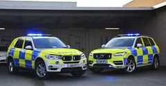 BMW vs Volvo (S11 AUN) Tags: durham cleveland police bmw x5 xdrive30d 4x4 anpr arv armed response firearms support roads policing rpu traffic car 999 emergency vehicle demonstrator demo bmwcarsuk lj68ztt volvo xc90 d5 powerpulse estate unit kx68nfu