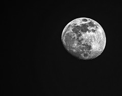 The Moon (Monochrome) (Olympus OM-D EM1 -II & Panasonic-Leica 100-400mm Vario-Elmar Telephoto Zoom) (markdbaynham) Tags: moon lunar themoon panasoniclumix panasonicleica 100400mm varioelmar olympus omd omdm43 m43 mirrorless microfourthird microfourthirds telephoto em1 em1mk2 em1ii em1mkii olympusem1 micro43 m43rd olympusmft mft