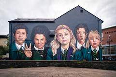 Derry Girls Mural (scalper2007 (Lee)) Tags: people person group art mural woman wall painting man family boy outdoor socialgroup adult posing head photo school team jury portrait front billboard university visualarts derrygirls channel4 comedy hitcomedy derry